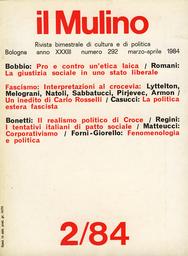 Copertina del fascicolo dell'articolo Pro e contro un'etica laica
