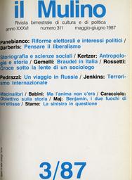 Copertina del fascicolo dell'articolo Croce sotto la lente di un sociologo