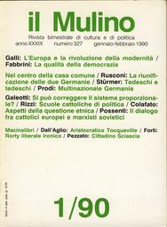 Copertina del fascicolo dell'articolo Tocqueville: l'attualità del pensiero di un aristocratico