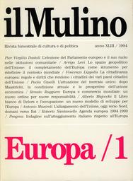 Copertina del fascicolo dell'articolo La cittadinanza europea