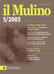 Copertina del fascicolo dell'articolo La modernizzazione religiosa del cattolicesimo italiano