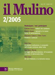 Copertina del fascicolo dell'articolo Fragili e stabili. Le alleanze nel sistema politico italiano
