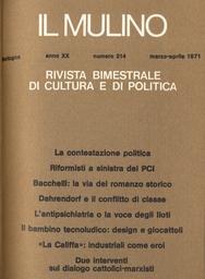 Copertina del fascicolo dell'articolo Una interpretazione dei rapporti Stato-Chiesa. La