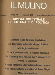 Copertina del fascicolo dell'articolo La Grande Coalizione imperfetta