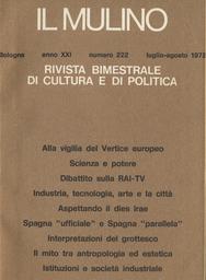 Copertina del fascicolo dell'articolo Spagna