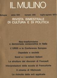 Copertina del fascicolo dell'articolo Sociologia e psicologia sociale della sfera clinica