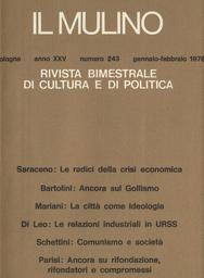 Copertina del fascicolo dell'articolo Storia, sociologia, classi subalterne. A proposito di due convegni di sociologia delle religioni