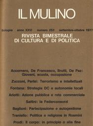 Copertina del fascicolo dell'articolo A proposito del valore legale del titolo di studio