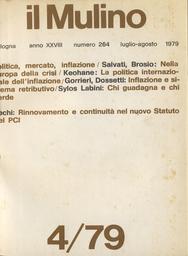 Copertina del fascicolo dell'articolo Politica e mercato nell'Europa della crisi