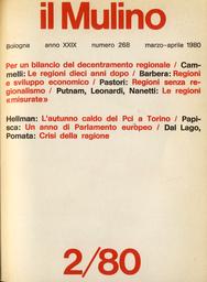 Copertina del fascicolo dell'articolo Le regioni senza regionalismo