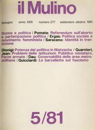 Copertina del fascicolo dell'articolo Politica sociale e movimento femminista