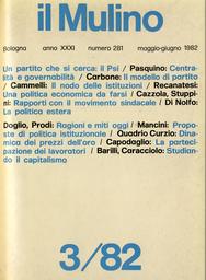 Copertina del fascicolo dell'articolo Per la riforma delle istituzioni